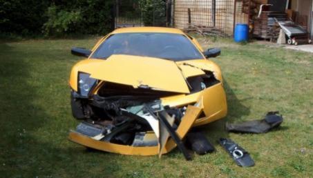 Lamborghini Gallardo accidentado